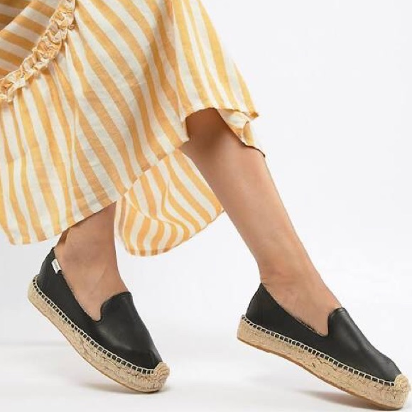 Soludos Shoes | Soludos Black Leather